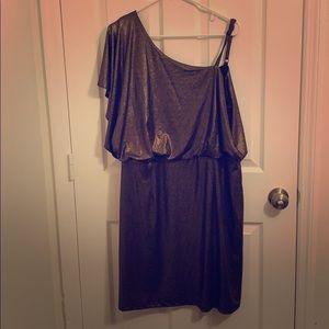 Shimmering Gold Soho Apparel Ltd. Party Dress